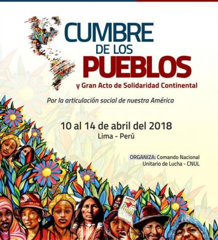 Flyer de la Cumbre de los Pueblos